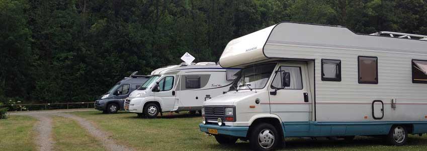 Verharde kamperplaatsen in de Belgische Ardennen