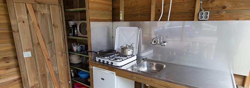 Cottage beschikt over een buitenkeuken met inventaris