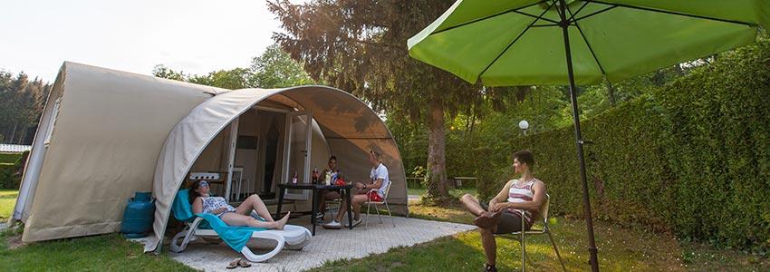 Ontspannen kamperen in onze glamping tent op camping Polleur