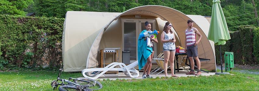 Glamping op camping Polleur: dat kan in de huurtent comfort