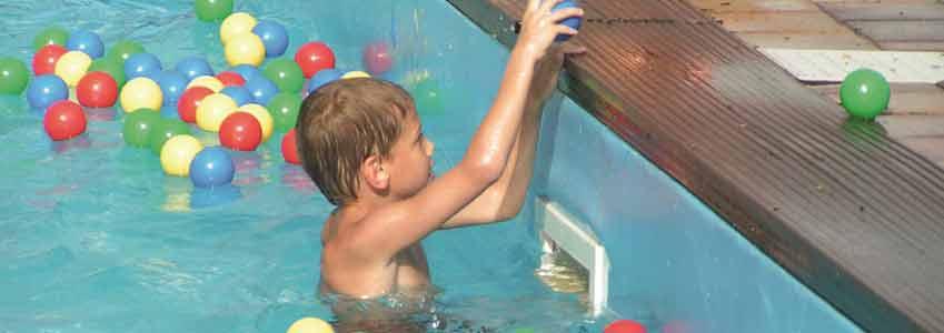 Camping Polleur beschikt over twee zwembaden voor genoeg speelplezier voor de kinderen