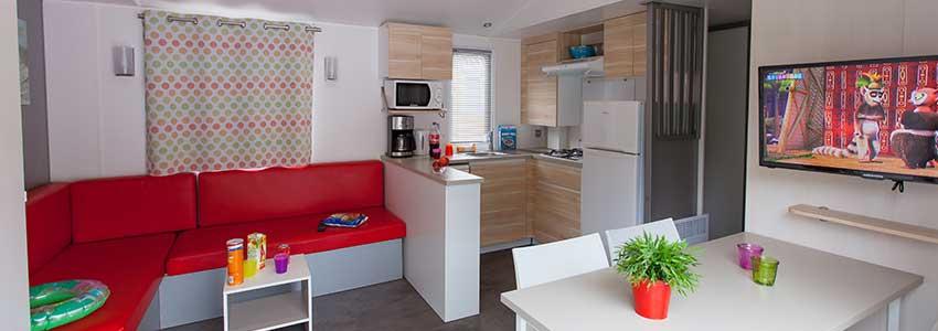 Open leef keuken met vaatwasser in een chalet exclusive