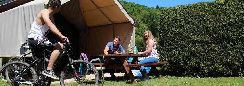 Verhuur van mountainbikes op camping Polleur in de Belgische Ardennen
