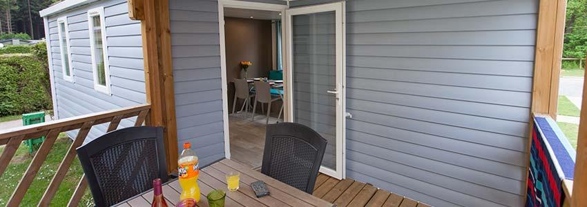 Accommodatie voor 4 personen met overdekte veranda